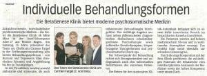 """Artikel aus der Verlagsbeilage """"Gesundheit"""" des General-Anzeigers Bonn vom 11. März 2014"""
