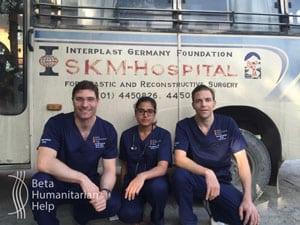 Zwei Wochen arbeitete das Team im Sushma Koirala Memorial Hospital.