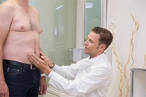 Adipositas-Konzept-Bauch