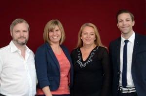 Das Team hinter Face Value (v.l.n.r.): Thomas Lenz (Alienus Mediaconsulting), Hannah Welp (Chefredakteurin Top Magazin Bonn), Susanna Heraucourt (Fotografin), Dr. med. Daniel Sattler (Beta Humanitarian Help).