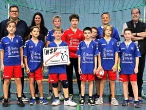 Foerderung des Jugendsports – Nadine und Stefan Mühlbauer unterstützen den HSV Troisdorf